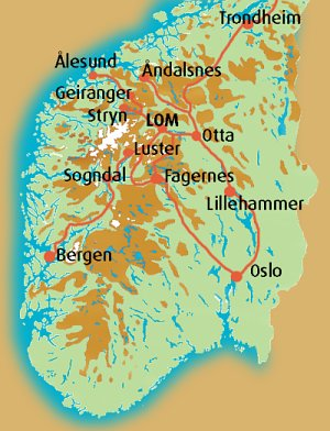 kart galdhøpiggen norgeskart   Strind Gard kart galdhøpiggen